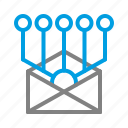 broadcast, digital, digital marketing, mail, marketing, message icon
