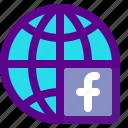fb, marketing, media, social, web icon