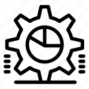 cog, gear, graph, pie, settings, statistics icon