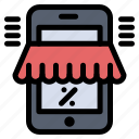 marketplace, mobile, online, shop, shopping icon