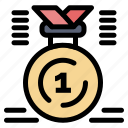 award, first, medal, position, win icon