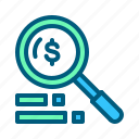 analytics, business, digital, finance, magnifier, marketing, search icon