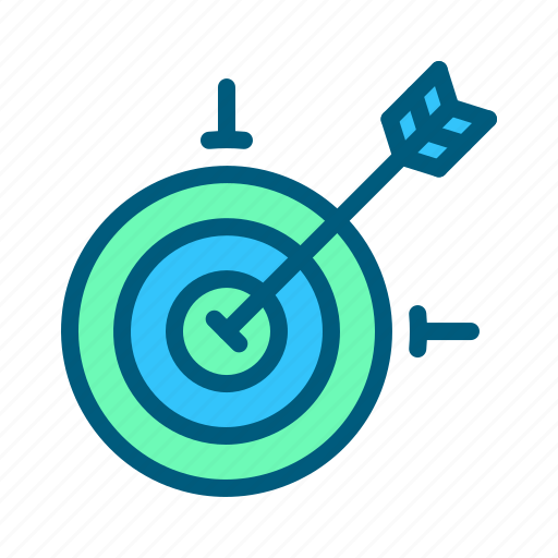 business, digital, finance, management, marketing, strategy, target icon