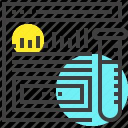 analysis, analytics, chart, graph, research, statistics, web icon
