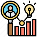 audience, chart, customers, insights, analytics icon