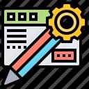 blog, content, management, media, website icon