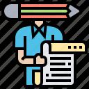 content, copywriter, creative, document, wording icon