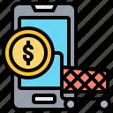 ecommerce, market, online, shopping, smartphone