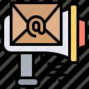 advertisement, email, letter, marketing, megaphone