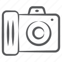 camera, photo cam, photographic equipment, polaroid camera, video camera icon