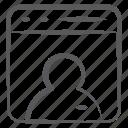 biography, cv, personal profile, profile, resume, summary, user profile icon