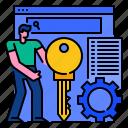keyword, marketing, optimization, research, search, seo, web icon