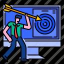 arrow, management, marketing, strategy, success, target