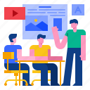 agency, creative, design, marketing, meeting, office, workplace icon