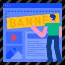 advertising, banner, design, marketing, media, seo, template icon