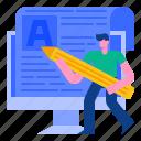 blog, blogger, blogging, communication, content, media, web icon