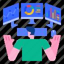 analytics, development, digital, display, monitor, monitoring, screen icon