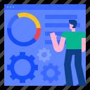 analytics, development, management, marketing, optimize, seo, service icon