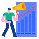 chart, financial, growth, investment, marketing, profit, stock icon