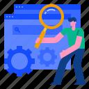 engine, marketing, optimization, search, seo, strategy, website icon