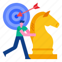 target, teamwork, strategy, success, plan, marketing icon