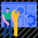 marketing, optimization, search, seo, technology, tools, web icon