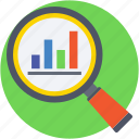 bar chart, bar graph, infographics, search chart, search graph icon