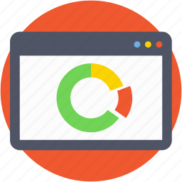 online graph, pie chart, pie graph, statistics, web analytics icon