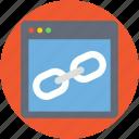 backlink, chain link, hyperlink, link, weblink icon