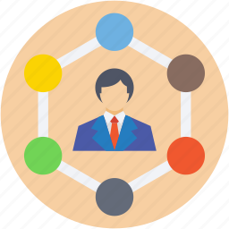 connected user, connection, networking, scheme, social network icon