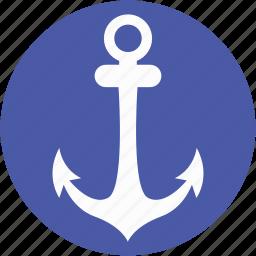 anchor, boat anchor, nautical, navigational, ship anchor icon