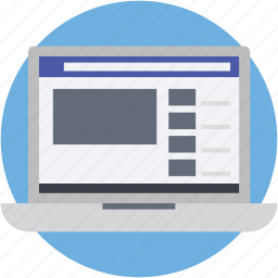 laptop, macbook, online video, video streaming, web ui icon