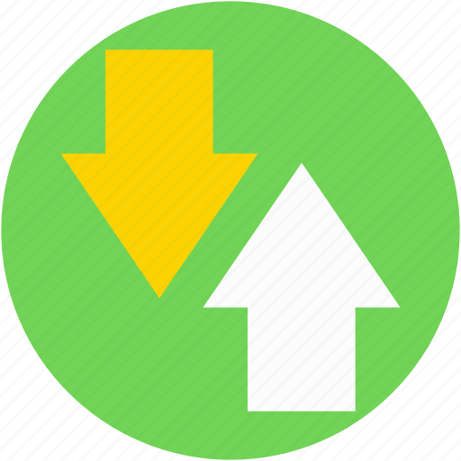 arrows, direction arrow, down arrow, navigation arrow, up arrow icon