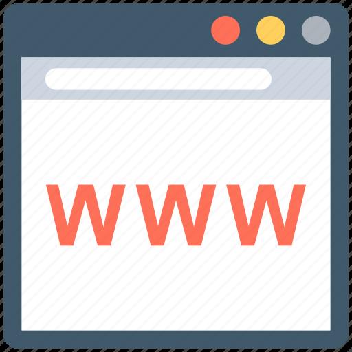 domain, url, web domain, web url, www icon