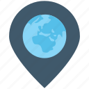 globe, location pin, map locator, map pin, world map
