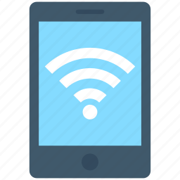 mobile, mobile wifi, wifi connection, wifi signals, wireless internet icon