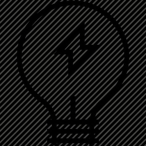 bulb, bulb on, idea, light bulb, luminaire icon