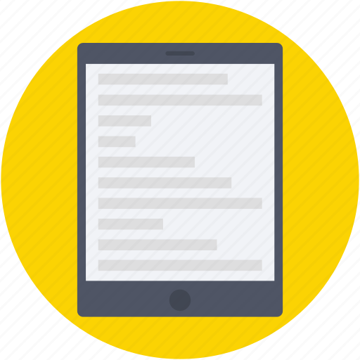 ipad, online education, smartphone, tablet, web interface icon