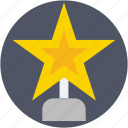 award, prize, reward, star trophy, trophy icon