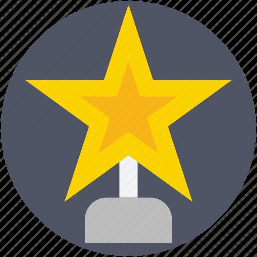 award, prize, reward, star trophy, trophy icon