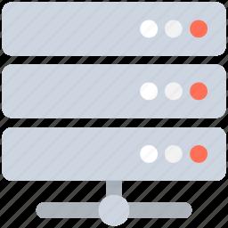 database, network server, server, server connection, web hosting icon