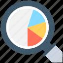 analytics, infographics, pie graph, search graph, statistics
