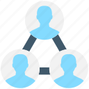 group, hierarchy, network, team, team hierarchy icon