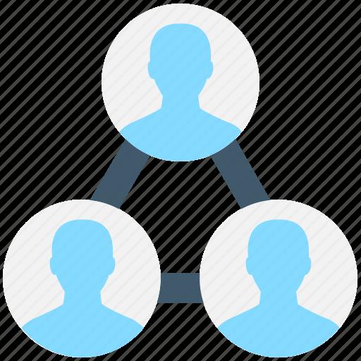 group, hierarchy, network, team, team hierarchy icon