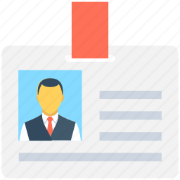 employee card, id card, identity badge, identity card, student card icon
