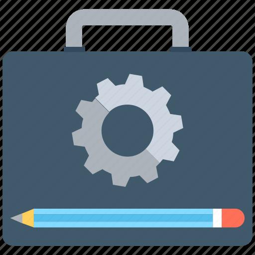 briefcase, cog, portfolio, settings, tool kit icon