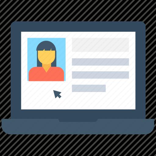 bio, cv, online bio, online resume, resume icon