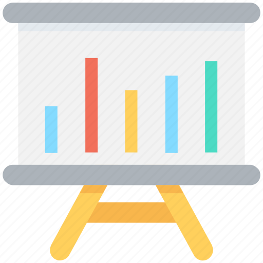 business presentation, chalkboard, easel, presentation, whiteboard icon