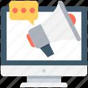 advert, advertisement, announcement, megaphone, online advert