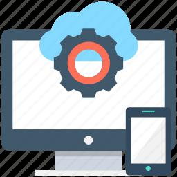 cloud computing, computing, icloud, mobile, monitor icon